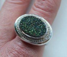 Edelsteindrusen Entourage-Ring Gr.21 925 Silber neuwertig hochwertig Qvc