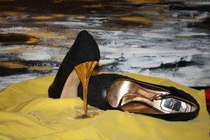 Christian Dior High Heels black leather