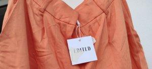 Edited Pantalone palazzo arancione chiaro-arancione Cotone