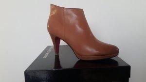 Belmondo Ankle Boots light brown-cognac-coloured leather