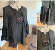 Tunic Blouse black cotton