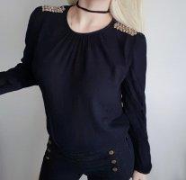 Edle Bluse von Zara Gr. S / 36 Mit Schulteraccesoire