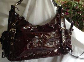 Borse in Pelle Italy Shoulder Bag dark brown leather