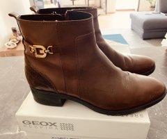 Edle Geox Felicity Stiefeletten Boots Gr.39,5 Cognac