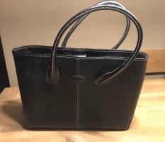 Bolso barrel negro-crema