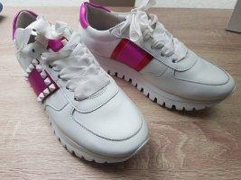 Edle Ledersneaker v.Kennel &Schmenger, jazz gr. 38 weis/pink neu