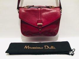 Edle Massimo Dutti Handtasche in Weinrot