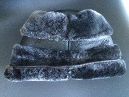 Futrzana czapka antracyt