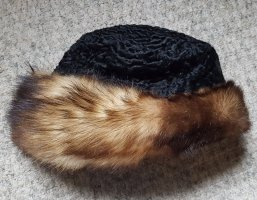 Fur Hat black-bronze-colored