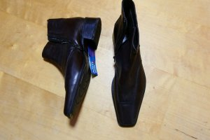 Sally O'Hara Botines de invierno marrón-negro Cuero