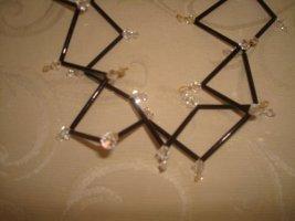 edle Swarovski Halskette mit Glasstäben