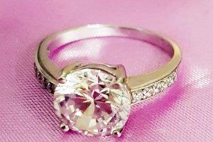 Edler Eternity Ring 925 Silber Solitär Zirkonia von Christ Gr.20 NEU