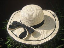 Cappello parasole beige chiaro-nero
