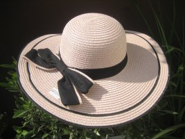 Straw Hat light pink-black