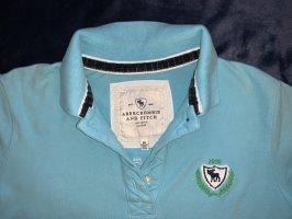 Edles Abercrombie & Fitch Poloshirt M mit Samtinnenborde