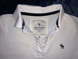 Edles Abercrombie & Fitch Poloshirt weiss wie neu M