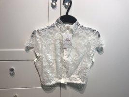 Astrid Söll Koronkowa bluzka biały