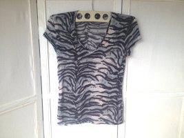 Edles T-Shirt mit Allover-Raubtier-Muster