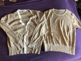 Ensemble en tricot crème-blanc cassé