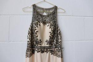 Edressit Kleid lang Maxikleid 38 apricot beige rosé nude neu Abendkleid