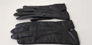Guantes con dedos negro Cuero