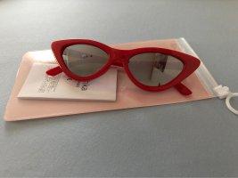 Bershka Occhiale stile retro rosso