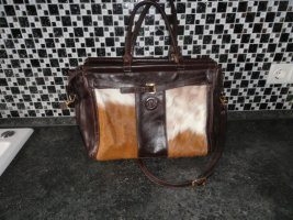 Hand made Crossbody bag brown leather