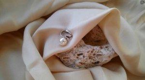 Vintage Pendientes de perlas multicolor metal
