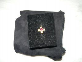 Gold Earring magenta-gold-colored