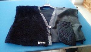 unbekannte Fake Fur Vest black