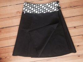Wraparound Skirt natural white-dark brown