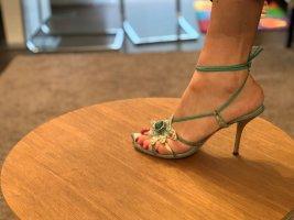 Einzigartige italienische Sandaletten Braccini Leder