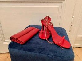 Einzigartige Saint Laurent High-Heel Sandaletten mit Swarowski Steinbesatz in Originalbox