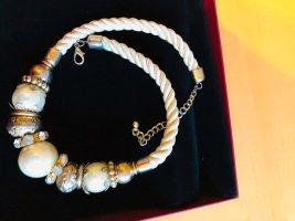 Statement Necklace white-silver-colored