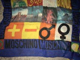 Love Moschino Zijden sjaal blauw-zwart Zijde