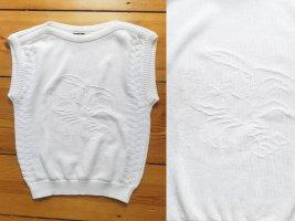 Franco Senzo Długi sweter bez rękawów biały