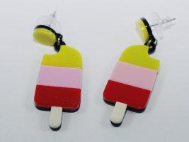 Clou d'oreille multicolore matériel synthétique