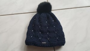 Eisbär Knitted Hat dark blue merino wool
