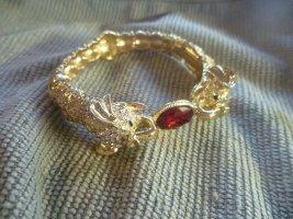 Sztywna bransoletka piaskowy brąz-ciemnoczerwony