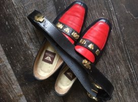 Elefanten Loafer Slipper Schuhe + Gürtel