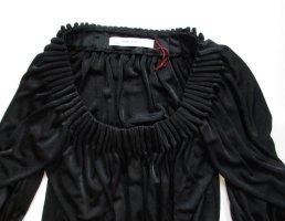 Elegant Kleid Zara Basic Größe M 38 Schwarz Langarm Midikleid Stretch gerafft Rundhals Slipdress Partykleid