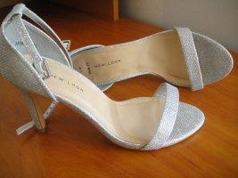 New Look Sandalo comodo argento-grigio chiaro Tessuto misto