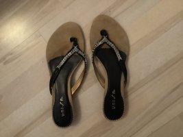 Unisa High-Heeled Toe-Post Sandals black