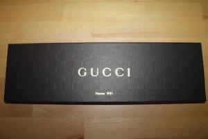 Gucci Bufanda de seda marrón tejido mezclado