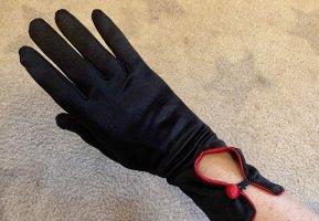 Avond handschoenen donkerrood-zwart