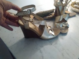 Nine west Sandalo a zeppa oro-marrone Pelle