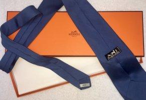 Elegante marineblaue Hermès Krawatte