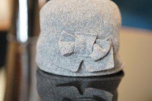 Hallhuber Fabric Hat grey wool