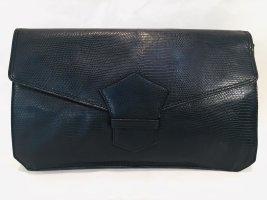 Elegante Paco Rabanne Clutch schwarzes Leder