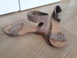 elegante Sandalen in beige, Größe 38
